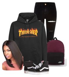 """""""wit the squad"""" by vivicuhhh on Polyvore featuring River Island and Vans"""