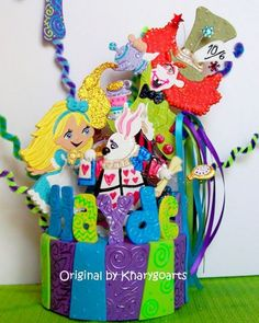 Alice in Wonderland Birthday cake topper for Children