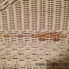 xoxo Grandma: Making Good: How to Repair Wicker Furniture