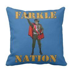 """""""Farkle Nation"""" Throw Pillow"""