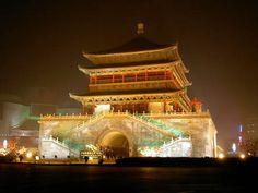 西安很有名的钟楼; Famous Bell Tower of Xi'An