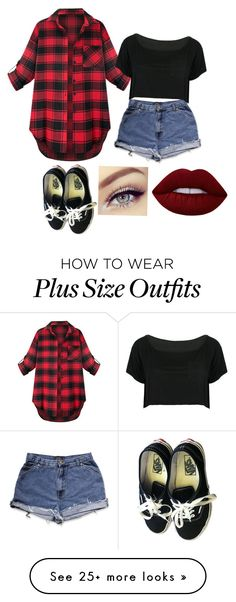 """""""Spring Outfit"""" by joseestela on Polyvore featuring WithChic, Lime Crime and Vans"""