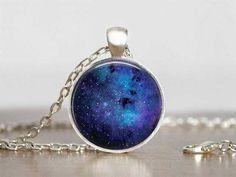 Glass Pendant Galaxy Necklace - 5 Designs
