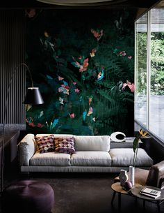 Contemporary Wallpaper 2016 collection by Wall&Decò premiered in Paris Brick Accent Walls, Accent Walls In Living Room, Living Room Green, Living Room Colors, Accent Wall Designs, Contemporary Wallpaper, Colorful Wall Art, Deco Design, Design Art