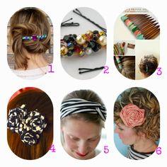 donneinpink- risparmiare col fai da te: Moda fai da te- Accessori per capelli- Bellissimi ...