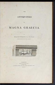 The antiquities of Magna Graecia