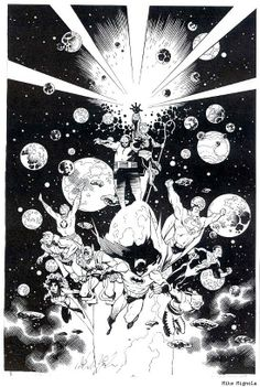 COSMIC ODYSSEY by Mike Mignola. One of the most amazing, best illustrated stories of the late '80s