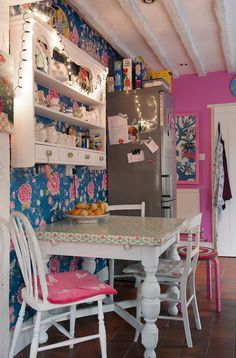 pink girlie kitchen #kitchen #decor #girlie