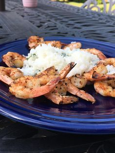 [Homemade] Chipotle Garlic Shrimp on a bed of Cilantro-Lime White Rice