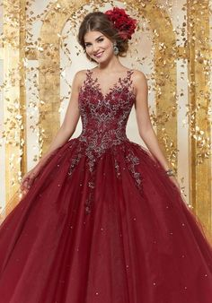quinceanera dresses Embroidered Quinceanera Dress by Mori Lee Vizcaya 89223 – ABC Fashion - Mori Lee Dresses, 15 Dresses, Fashion Dresses, Red Wedding Dresses, Wedding Gowns, Tulle Ball Gown, Ball Gowns, Turquoise Quinceanera Dresses, Glitter Dress