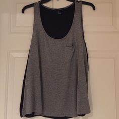 Forever 21 Gray Tank with Sheer Black Back This Crop Tank is Great for the Summer Forever 21 Tops Tank Tops