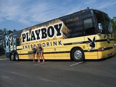 Playboy energy drink bus