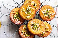 Pistachio and honey friands are perfect to enjoy in the afternoon