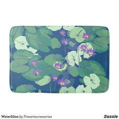 Waterlilies Bathroom Mat