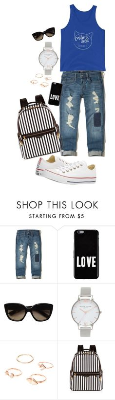 """""""Callie's Tank – Callie's Closet Clothing Co."""" by elly-giove ❤ liked on Polyvore featuring Hollister Co., Givenchy, Bottega Veneta, Olivia Burton, Henri Bendel and Converse"""