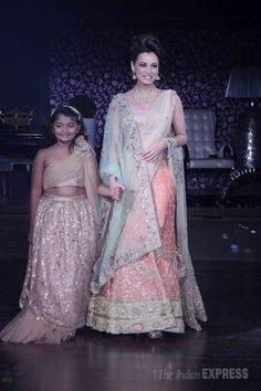 Dia Mirza on the ramp at 'The Walk Of Pride', a fashion fundraiser by Amy Billimoria for Nargis Dutt memorial charitable trust. #Bollywood #Fashion #Style #Beauty #Hot #Ethnic #Desi