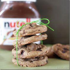 Nutella-Stuffed Chocolate Chip Cookies (Gluten-free!)