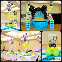 Baby Mickey First Birthday Party {Ideas, Supplies, Ideas} | Best ...