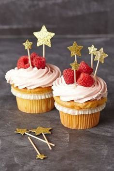 Star Cupcake Toppers - 4th of July Cupcakes | 4th of July | Fourth of July | Summer Dessert