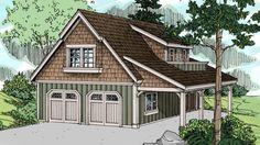 Eplans Garage Plan - A Premium Plan Presented By Home Planners - 804 Square Feet and 1 Bedroom from Eplans - House Plan Code HWEPL68840