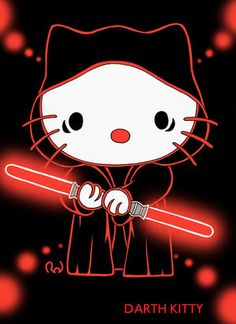 my ultimate faves Hello Kitty and Star Wars! Hello Kitty Art, Hello Kitty Tattoos, Hello Kitty Pictures, Hello Kitty Characters, Sanrio Characters, Bff, Hello Kitty Collection, Hello Kitty Wallpaper, Bad Cats