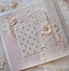 My Soul - creative workshop Galina Protsenko: Albums my students and news about online courses))) Mini Albums Scrap, Mini Scrapbook Albums, Scrapbook Journal, Scrapbook Cards, Baby Girl Scrapbook, Wedding Scrapbook, Baby Mini Album, Paper Bag Album, Diy Crafts For Girls