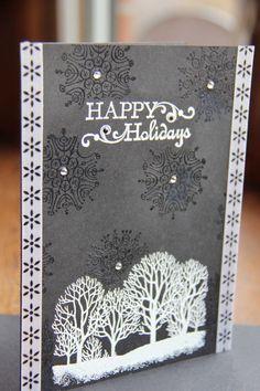 handmade card Christmas cardholiday cardtrees by DesignArrastey, $11.50