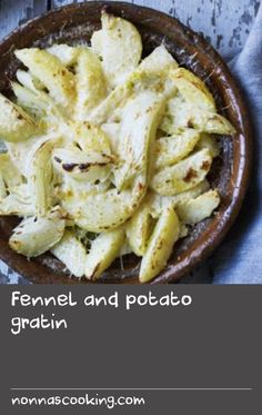 Fennel and potato gratin |      This is the perfect combination of potatoes and vegetables all cooked in one dish for a hearty dinner party or Sunday lunch. It is so tasty I could eat it as a supper on its own!You will need a shallow 2.4 litre/4 pint oven proof dish, about 23x30cm/9x13in.