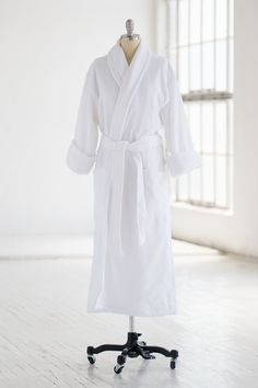 TERRY CLOTH VELOUR SPA BATHROBE IN WHITE  115.00 A classic favorite spa  bathrobe  100% 1c1424b4c