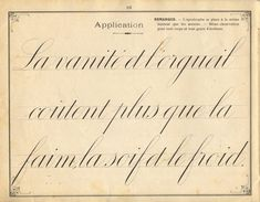 French instruction manual, 1900, page 16, [large] Cursive.  The apostrophe is supposed to be placed at the same height as the accents.