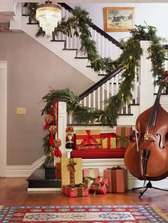 Instruments in your Christmas display