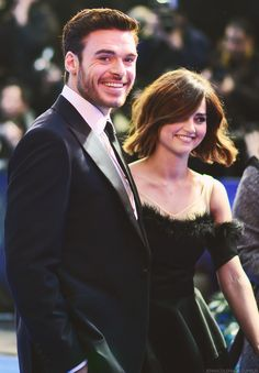 Richard Madden and Jenna Coleman at the Cinderella UK Premiere - 19 March 2015