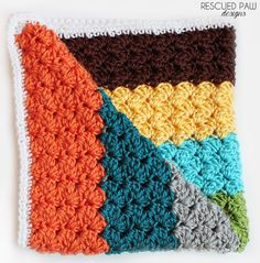 Crochet Blanket Pattern using the Blanket Stitch via Rescued Paw Designs