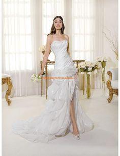 Robe de mariée pas ches organza cristal col coeur