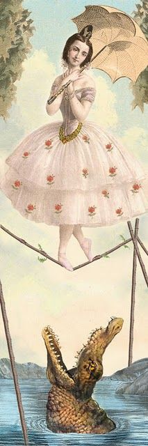 Tightrope Walker. Love! See MJ Ornaments @ http://mjornaments.blogspot.com/ for more lovely pieces:)