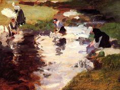 Washerwomen, 1880 John Singer Sargent