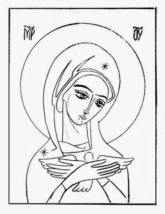 Hermeneia: 2014 Religious Images, Religious Icons, Religious Art, Jesus Coloring Pages, Jesus Art, Byzantine Icons, Sketch Painting, Orthodox Icons, Angel Art