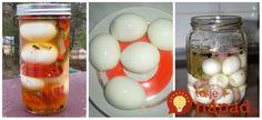 Jemne pikantné nakladané vajcia so zeleninkou. Stačí len otvoriť pohár a máte postarané o skvelú večeru!