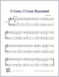 O Come O Come Emmanuel  C Instrument   Musicnotescom