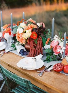 Romantic Hawaiian Estate Destination Wedding - Style Me Pretty Holly Brown, Autumn Table, Entertainment Table, Blue Candles, Autumn Inspiration, Wedding Inspiration, Autumn Ideas, Wedding Styles, Wedding Ideas