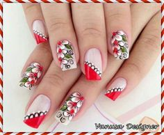 124 Pegatinas y Stickers para Uñas con brillos y figuras – Información imágenes Fabulous Nails, Perfect Nails, Gorgeous Nails, Pretty Nails, Fingernail Designs, Cute Nail Designs, Flower Nail Art, Easy Nail Art, Beautiful Nail Art