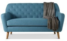 Travis two-seater midcentury-inspired sofa by Swoon Editions