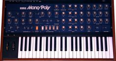 The 4 oscillator Korg Mono-Poly synthesizer came out in 1981 along with the larger Korg Polysix. It's monophonic when using all of its 4 oscillators in unison; or a single oscillator 4 note polyphonic. With a great modulation section and arpeggiator, this was a powerful workhorse of a synth and used by Tangerine Dream, The Orb, 808 State & The Chemical Brothers.
