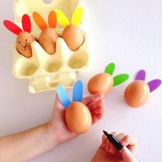 Rainbow Rabbits - Easter craft activity