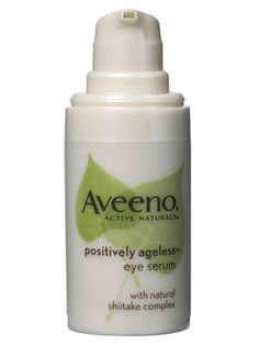 Aveeno Active Naturals Positively Ageless Eye Serum. ABSOLUTELY WORKS for crepey under eye skin!
