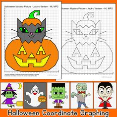 School Pets Coordinate Graphing Pictures Ordered Pairs: Back to ...