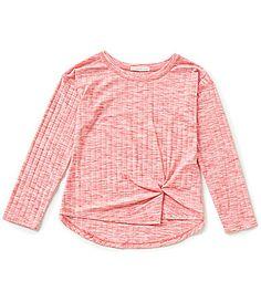 Copper Key Big Girls 716 Ribbed Knit Front Knot Twist Top #Dillards