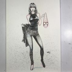 Mary Jane by David Marquez #maryjane #spiderman #commission #marvel #comics #comicart