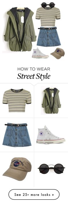 """""""everyday street style"""" by mittensandkittens on Polyvore featuring Topshop, Chicnova Fashion and Converse"""