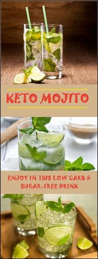When it comes to alcohol, especially restrictive are low-carb diets since the most of these drinks are high in carbs. If you're on a keto diet and like to enjoy in Mojito now and then, you should try out the recipe for this sugar-free drink. Also, inform yourselves about the drinks and amount of carbs in them. It's easy to make, the ingredients are simple and it only has 3 g Net Carbs. This Mojito is done in a few minutes, for 1 serving.